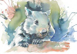 Wombat Watercolour 2