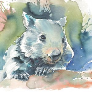 Wombat Watercolour 2